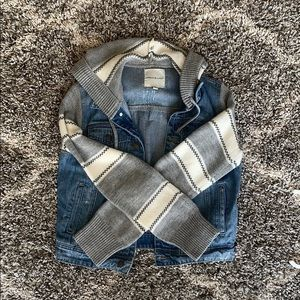 Thread & Supply denim jacket with hood